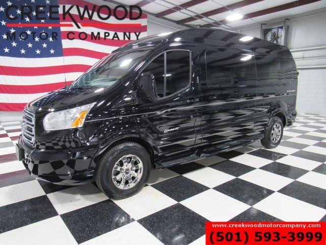 2018 Ford Transit Van Explorer SE Luxury Conversion Black Tv Dvd 7-Pass