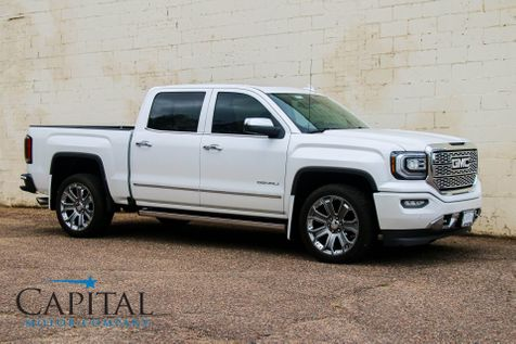 2018 GMC Sierra 1500 Denali Crew Cab 4x4 w/Navigation, Heated/Cooled Seats, BOSE Audio & 22