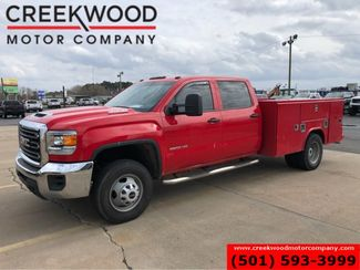 2018 GMC Sierra 3500HD W/T 2WD Dually Diesel Red Utility Service Flatbed in Searcy, AR 72143
