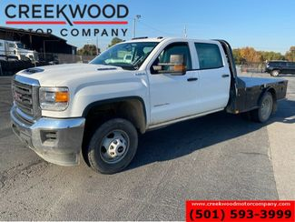 2018 GMC 3500HD W/T 4x4 Diesel Dually FLATBED White 1 Owner NICE in Searcy, AR 72143