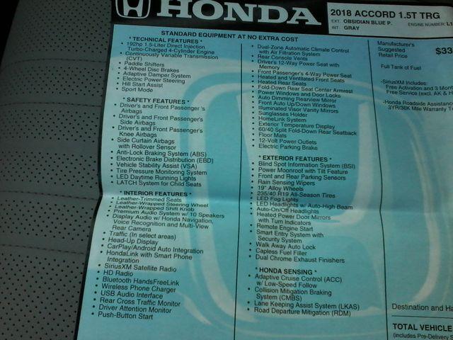 2018 Honda Accord Touring 1.5T Boerne, Texas 41