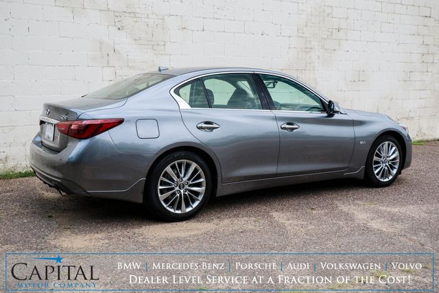 2018 Infiniti Q50 3.0t LUXE AWD w/InTouch Dual Screens, Moonroof, Heated Seats and Bluetooth Audio System in Eau Claire, Wisconsin 54703