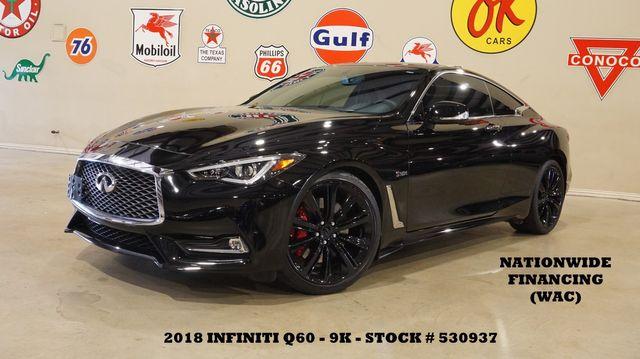 2018 Infiniti Q60 RED SPORT 400 SUNROOF,NAV,HTD LTH,BLK 20'S,9K