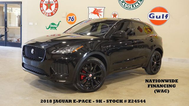 2018 Jaguar E-PACE R-Dynamic HSE ROOF,NAV,BACK-UP,HTD LTH,BLK 20'S,9K
