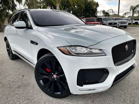 2018 Jaguar F-PACE S SUPERCHARGED AWD PANO ROOF WHITE/RED LEATHER in Plant City, Florida