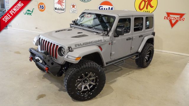 2018 Jeep Wrangler JL Unlimited Rubicon 4X4,DUPONT KEVLAR,LIFTED,NAV,LTH,FUEL WHLS in Carrollton, TX 75006