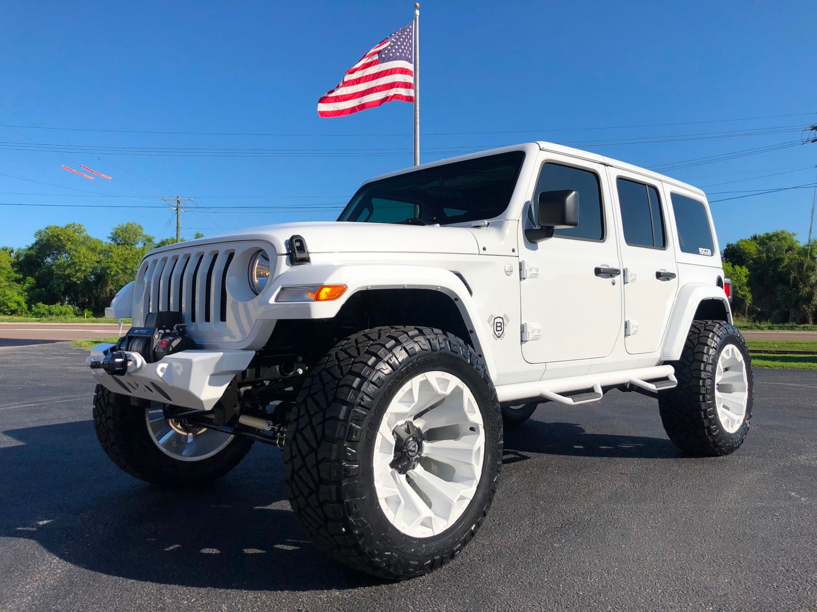 2018 jeep all new wrangler unlimited jl white out custom lifted leather hardtop florida bayshore. Black Bedroom Furniture Sets. Home Design Ideas