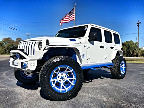 2018 Jeep All-New Wrangler Unlimited WHITE AND BLUE CUSTOM JL LEATHER LIFTED LOADED in , Florida