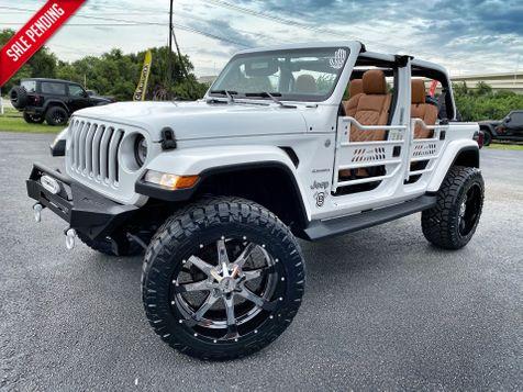 2018 Jeep All-New Wrangler Unlimited CUSTOM LIFTED SAHARA LEATHER HARDTOP NAV in Plant City, Florida