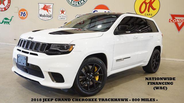 2018 Jeep Grand Cherokee Trackhawk MSRP 100K,ROOF,NAV,REAR DVD,840 MILES
