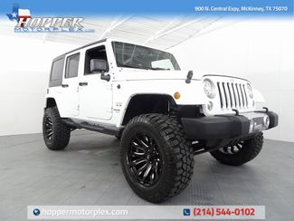 2018 Jeep Wrangler JK Unlimited Sahara LIFT/CUSTOM WHEELS AND TIRES in McKinney, Texas 75070