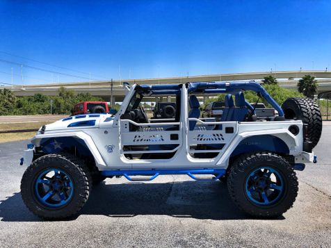 2018 Jeep Wrangler JK Unlimited CUSTOM WHITE N' BLUE LIFTED LEATHER HARDTOP in , Florida