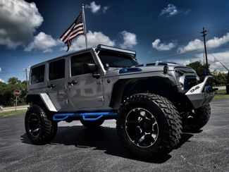 2018 Jeep Wrangler JK Unlimited CUSTOM LIFTED LEATHER SAHARA OCD N-FAB DV8 JKS   Florida  Bayshore Automotive   in , Florida