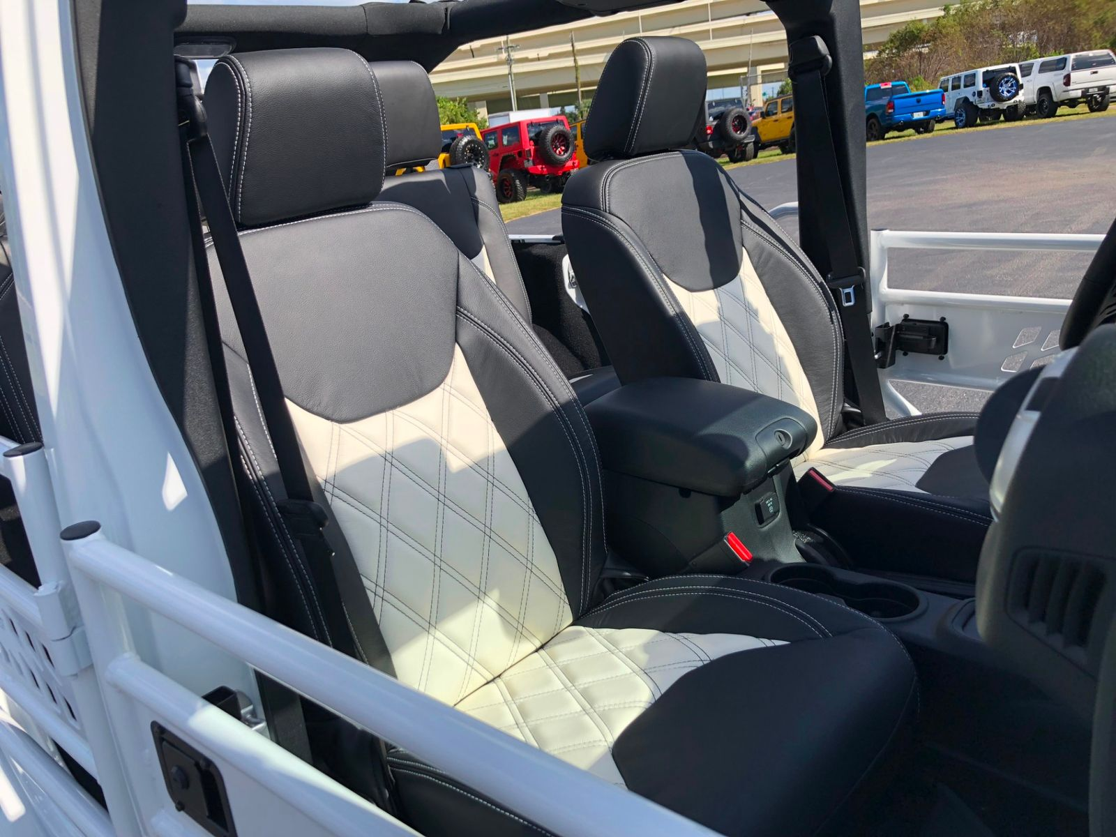 jeep wrangler jk unlimited rubicon lifted leather hardtop heated seats florida bayshore