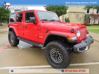 2018 Jeep Wrangler Unlimited Sahara Custom Lift , Wheels and Tires in McKinney, Texas 75070