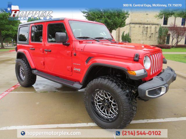 2018 Jeep Wrangler Unlimited Sahara Custom Lift Wheels and Tires