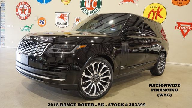 2018 Land Rover Range Rover LWB MSRP 124K,PANO ROOF,360 CAM,HTD/COOL LTH,5K