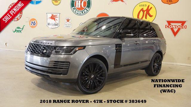 2018 Land Rover Range Rover HSE HUD,ROOF,360 CAM,HTD/COOL LTH,22'S,47K