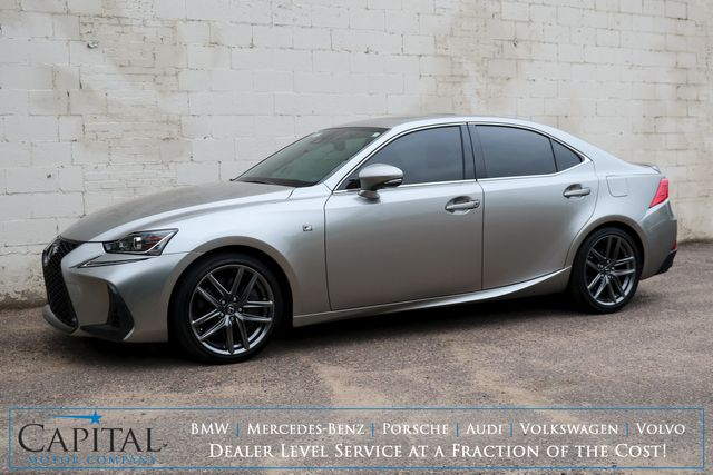 2018 Lexus IS350 AWD F-Sport w/Adaptive Cruise, NAV w/Mark Levinson Audio and Heated/Cooled Seats in Eau Claire, Wisconsin 54703