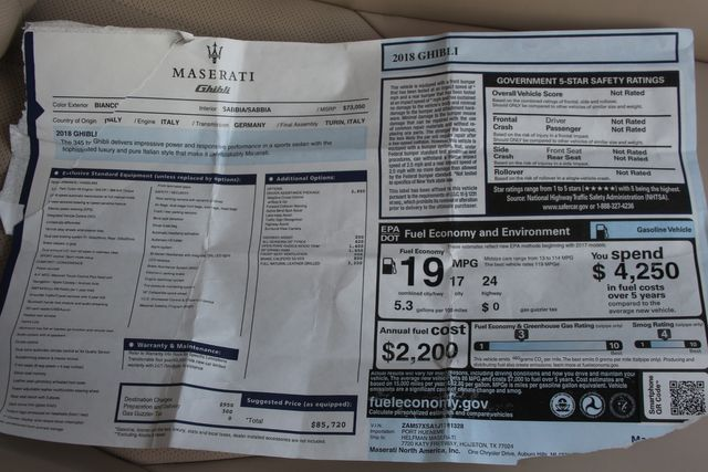 2018 Maserati Ghibli Houston, Texas 48