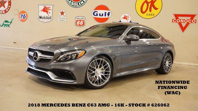 2018 Mercedes-Benz AMG C 63 Coupe MSRP 79K,HUD,ROOF,NAV,HTD/COOL LTH,16K in Carrollton, TX 75006