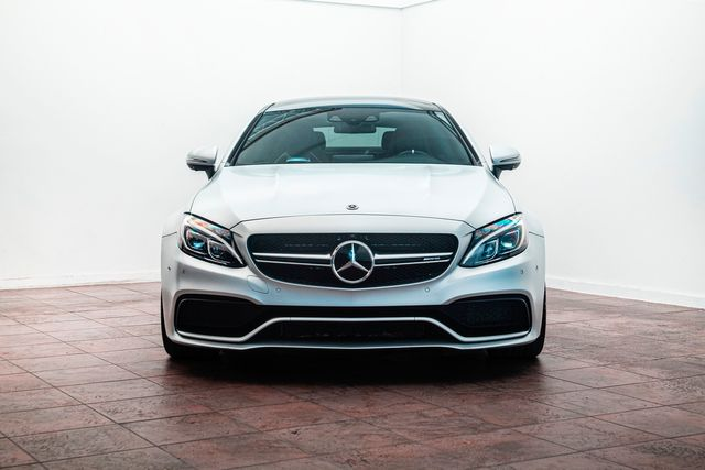 2018 Mercedes-Benz AMG C63 S in Factory Satin Silver w/ Carbon Ceramic Brakes in Addison, TX 75001