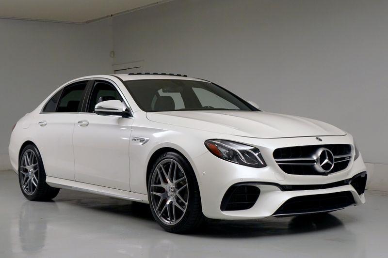 2018 Mercedes-Benz AMG E 63 S* 603 HP* Designo Diamond White* Burmester Sound* | Plano, TX | Carrick's Autos in Plano TX