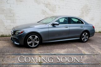 2018 Mercedes-Benz E300 4MATIC AWD w/Nav, Backup Cam, Heated Seats, Moonroof & Premium Audio w/CarPlay in Eau Claire, Wisconsin 54703