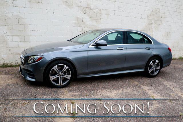 2018 Mercedes-Benz E300 4MATIC AWD w/Nav, Backup Cam, Heated Seats, Moonroof & Premium Audio w/CarPlay
