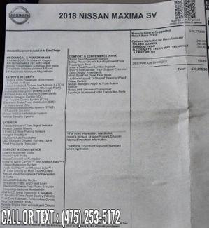 2018 Nissan Maxima SV Waterbury, Connecticut 36