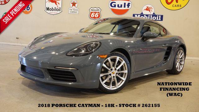 2018 Porsche 718 Cayman MSRP 70K,PREM PKG,6 SPD,HTD/COOL LTH,BOSE,18K in Carrollton, TX 75006