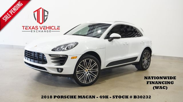 2018 Porsche Macan S AWD PANO ROOF,BACK-UP CAM,HTD/COOL LTH,21'S,49K