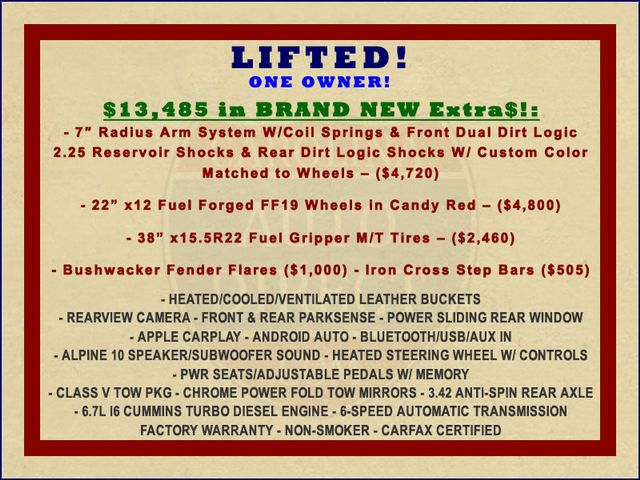 2018 Ram 2500 Laramie Crew Cab 4x4 - LIFTED - $13,485 IN EXTRAS! Mooresville , NC 1