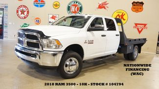 2018 Dodge Ram 3500 Chassis Crew Cab Tradesman 4X4 AISIN AUTO,FLAT BED,10K in Carrollton, TX 75006