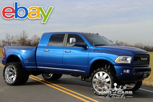 2018 Ram 3500 Laramie Mega 6.7L DIESEL 6-SPEED MANUAL 4K MILES LIFTED CUMMINS BLUE STREAK in Woodbury, New Jersey 08096