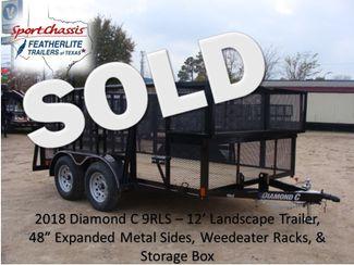 "2018 Diamond C 9RLS - 12' Landscaping 48"" Sides CONROE, TX"