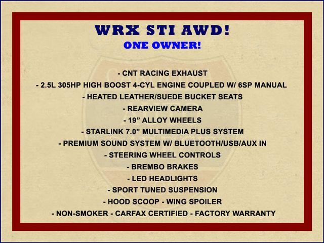 2018 Subaru WRX STI AWD - HEATED LEATHER - CNT RACING EXHAUST! Mooresville , NC 1