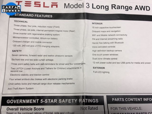 2018 Tesla Model 3 Long Range Madison, NC 47