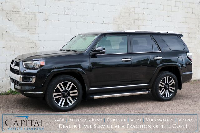 2018 Toyota 4Runner Limited 4x4 Luxury SUV w/Touchscreen Nav, Backup Cam, Sunroof, Heated/Cooled Seats & Tow Pkg
