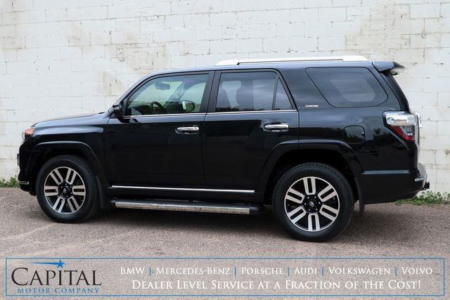 2018 Toyota 4Runner Limited 4x4 Luxury SUV w/Touchscreen Nav, Backup Cam, Sunroof, Heated/Cooled Seats & Tow Pkg in Eau Claire, Wisconsin 54703