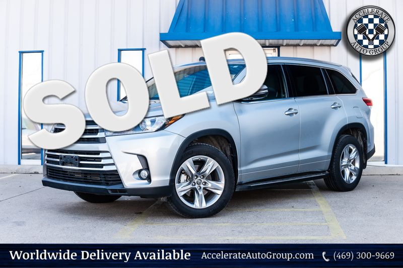 2018 Toyota Highlander LIMITED CLEAN CARFAX 1 OWNER NAV LEATHER BKUP CAM! in Rowlett Texas