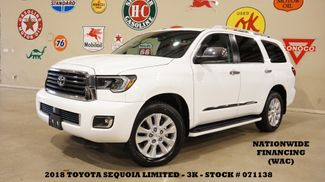2018 Toyota Sequoia Limited SUNROOF,NAV,REAR DVD,HTD LTH,3K,WE FINANCE in Carrollton, TX 75006