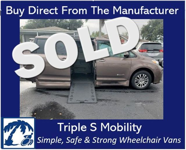 2018 Toyota Sienna Xle Wheelchair Van Handicap Ramp Van