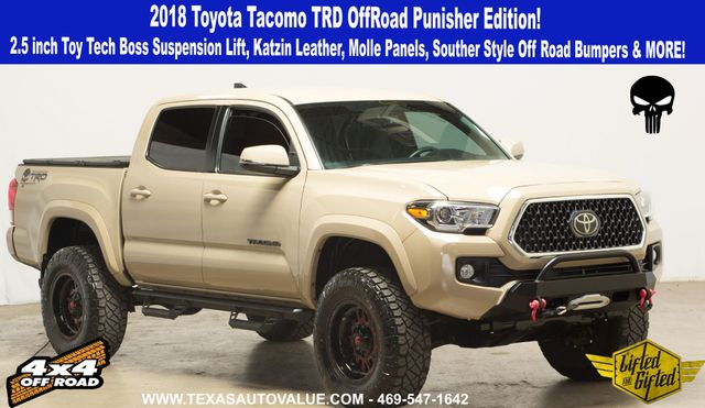 """2018 Toyota Tacoma Punisher Edition TRD OffRoad V6 Quicksand 2.5"""" ToyTech Lift & More in Dallas, TX 75001"""