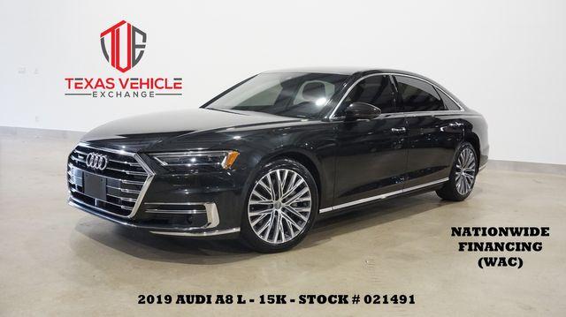 2019 Audi A8 L HUD,PANO ROOF,NAV,360 CAM,HTD/COOL LTH,20'S,16K