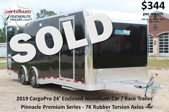 2019 Cargo Pro 24' - ENCLOSED CAR TRAILER 8.5' x 24' ENCLOSED CAR HAULER LINED W/ CABINETS CONROE, TX