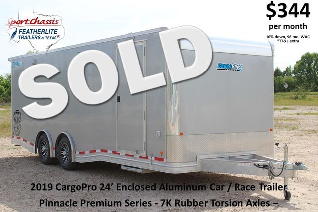 2019 Cargo Pro 24 ENCLOSED 24' - RACE TRAILER WITH CABINETS & ELECTRICAL CONROE, TX 0