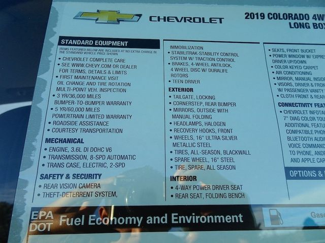 2019 Chevrolet Colorado 4WD Work Truck Madison, NC 47