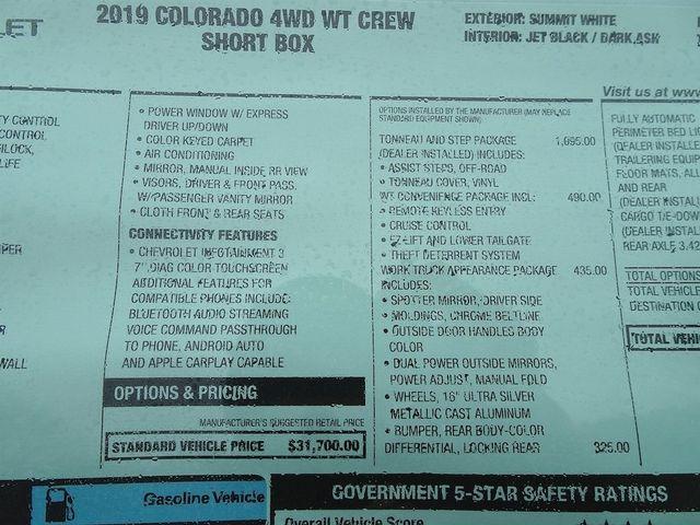 2019 Chevrolet Colorado 4WD Work Truck Madison, NC 48