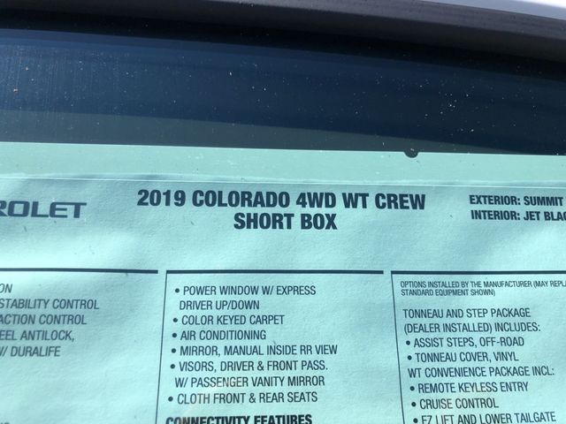 2019 Chevrolet Colorado 4WD Work Truck Madison, NC 45